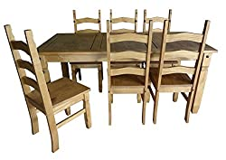 Mercers Furniture Corona 6 Ft Dining Table & 6 Chairs
