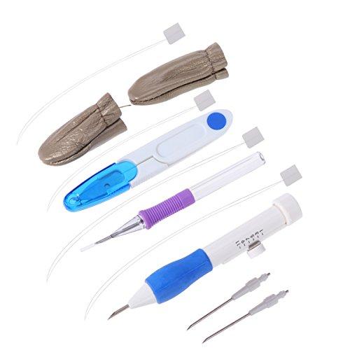 ultnice Nadel Filzen Starter Kit Punch Stickerei Pen Stiching Set mit Schutzkoffer für Sticken - Punch-stickerei-starter-kit