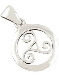 Trisquel joyería céltica colgante de plata 925