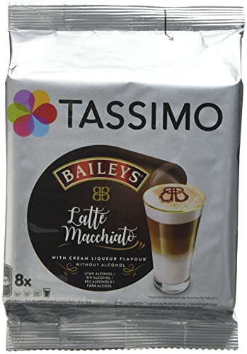 f1065a55d1ecb Tassimo Latte Machiatto Baileys Coffee Capsules, Pack of 5 (Total 80 Pods,  40 Servings)