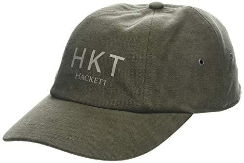HKT by Hackett London Herren HKT Canvas Baseball Cap, Grün (Khaki 8ho), (Herstellergröße: One Size) Canvas-cap Khaki