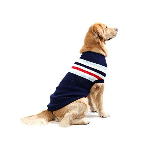 DELIFUR neue M-Wort-dunkelblauer Pullover die Haustier-Gewerkschaftsflagge-Haustier-Hundekleidung w?hrend der Fr¨¹hlings-und Herbst-Kleidung