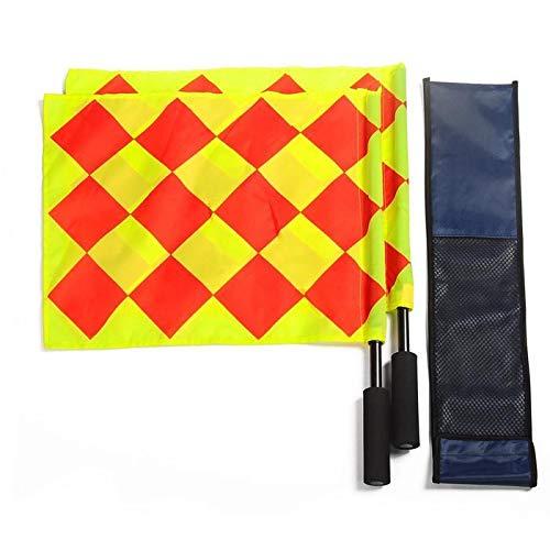 1 Para Fußball Schiedsrichter Flagge Mit Tasche Football Judge Sideline Fair Play Verwendung Sport Match Football Linienrichter Flags -