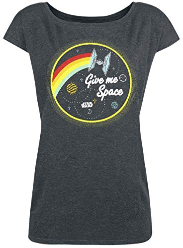Star Wars Give Me Space T-Shirt dunkelgrau meliert L -