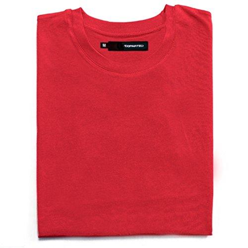 DEPARTED Herren T-Shirt Blank Größe XL, Rot (Rot T-shirt Blank Herren)