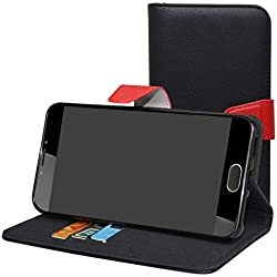 Mama Mouth Liquid Z6 Plus Coque, PU Cuir Portefeuille Debout Fonction Housse Coque Étui Couverture pour Acer Liquid Z6 Plus Smartphone,Noir