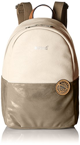Mustang Bennsville Joyce Backpack Mvz - Borse a zainetto Donna, Bianco (Offwhite), 15x32x24 cm (B x H T)