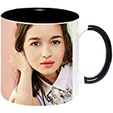 Alia Bhatt Ceramic Printed Coffee Mug by Impresion - IMPMUG-BLK-503