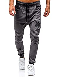 Homme Pantalon de Sport Polyester Casual Baggy Pantalon de Jogging  Respirant Pantalon de Entraînement Elastique Gym Fitness… 87c45161191