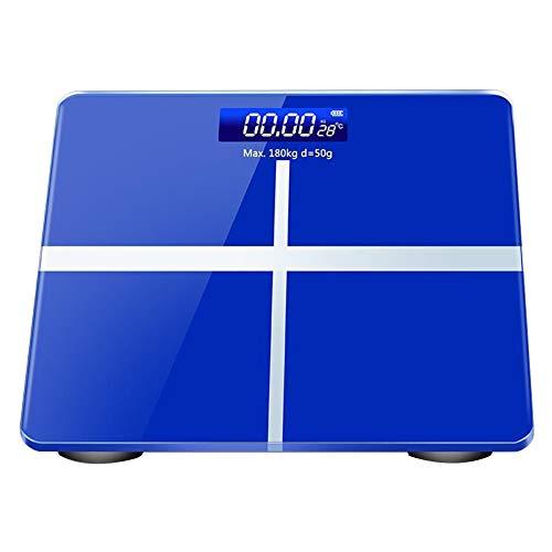 jEZmiSy Digitale Personenwaagen, Digital Temperatur Anzeige Wiegen Rahmen Gewicht Balance Karosserie Fett Analysator, Fördern Sie EIN gesundes Leben und halten Sie Sich fit Blue