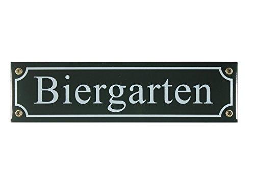 strassenschild-biergarten-grun-bier-garten-30x8-cm-emaille-schild-wetterfest-und-lichtecht-emaile-em
