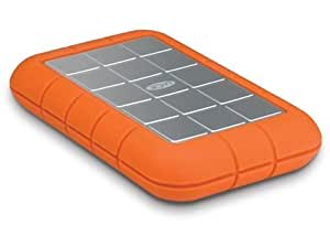 LaCie Rugged, All-Terrain Hard Drive, 160GB,Hi speed USB 2, Firewire 400 & 800, 5400RPM , designed by Neil Poulton, Mac and PC plug and play