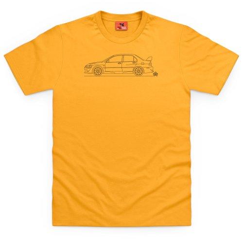 PistonHeads Evo 8 T-Shirt, Herren Gelb