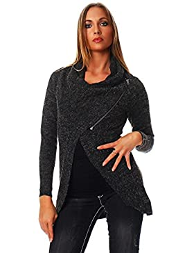 Only New Hayley Zip-Suéter Mujer,