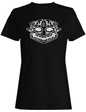 Tiki Vacaciones Máscara Verano camiseta de las mujeres o299f