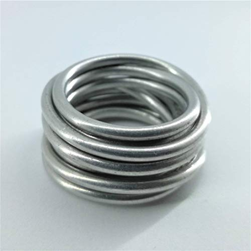 Nido, groviglio indissolubile. argento lucido