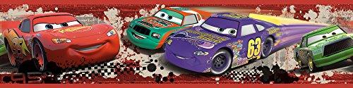 Room Mates 54567 RM - DISNEY Cars Piston Cup Bordüre Wandtattoo, Mehrfarbig, 23.5 x 13 x 2.5 cm