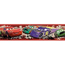 RoomMates - Cenefa adhesiva, diseño de carrera Piston Cup de Cars