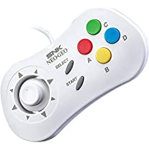 SNK Neo Geo Mini Console Official Gamepad Controller (International Edition) : WHITE