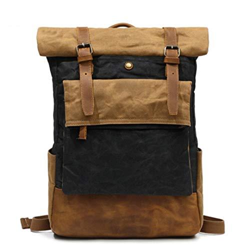 Retro Junior Rucksack Wear Travel Wasserdichte Schule Leder Canvas Rucksack