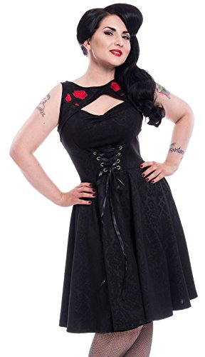 Poizen Industries Kleid Adina Dress Schwarz XL