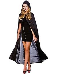 "Cap avec capuche - Noir 52 ""(132Cm) Halloween / Carnaval Costume Fantaisie"