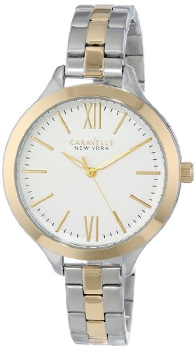 Caravelle New York  Dress Analog Champagne Dial Women's Watch - 45L139 image