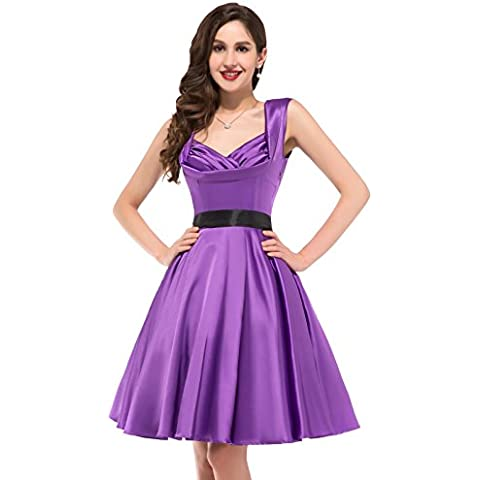 Belle Poque Retro Dress -  Vestito  - stile impero - Senza maniche  (50s 60s Dress)