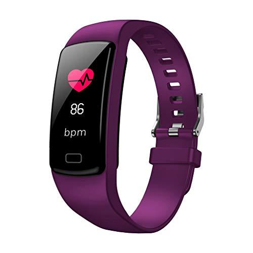 Waotier Fitnessarmband Für IOS Android Aktivitätsarmband Für Männer Frauen Pulsmesser Fitnesstracker Whatsapp FB Anruf Benachrichtigung Herzfrequenzmonitor Sportmodus Kalorienzähler Sportuhr (Violett)