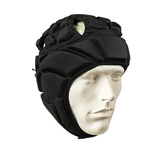 beautygoods Torwarthelm, Männer Fußball Kopfbedeckungen Verdickt Einstellbare Fußball Rugby Fußball Kopfschutz Gear Schutzhelm Protector Hut -