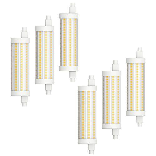 MÜLLER-LICHT 6er-Set LED R7s, vielfältig einsetzbar zahlreichen Wohnbereichen, warmweißes Licht (2700 K), 15 W, 2000 lm