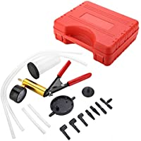 Zerone Vakuumtester,Bremsentl/üftungsvakuumpumpe Vakuumtester Auto Motorrad Bremsentl/üftungswerkzeug-Kit