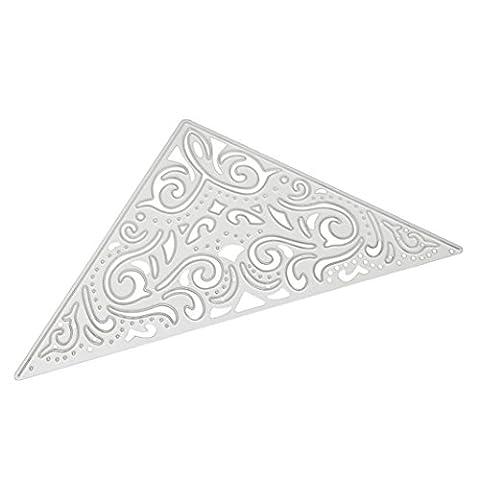 Zycshang 1PC Triangle en forme de fleur en métal de coupe Dies Pochoirs Scrapbooking Album photo Cartes de visite papier Crafts gaufrage DIY