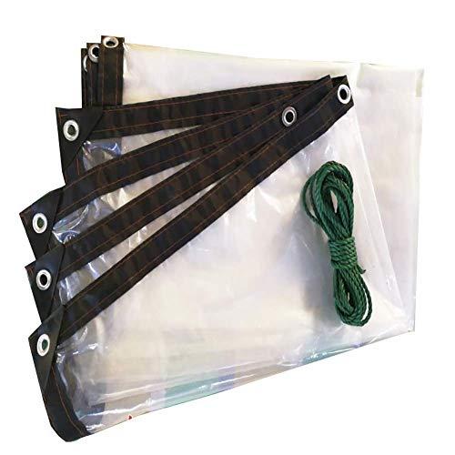 Waterproof Cloth Home Tente extérieure imperméable à l'eau de la bâche imperméable Transparente avec Le revêtement de Sol perforé (Color : A, Size : 4×8m)