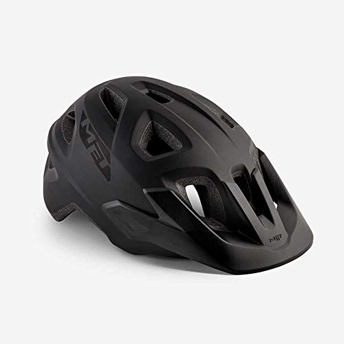 MET Echo 570026 Trail All Mountain Bike Casque de VTT aéré Rad Sport Inmould Enduro Noir Taille...