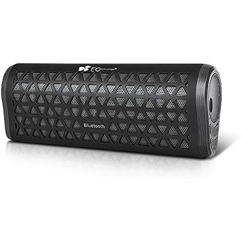 EC Technology Portátil Altavoz Bluetooth 6W Manos Libres micrófono 10 horas de música - Negro