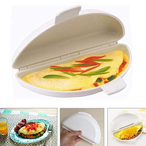 Miji Mikrowelle Omelettpfanne für Mikrowellen, Mikrowellen-Omelett-Maker, Mikrowellen-Omelettkocher/Omelettmarke/Omelett-Welle, Mikrowellen Perfekte Omelettes in Minuten - Omelett-sandwich-maker