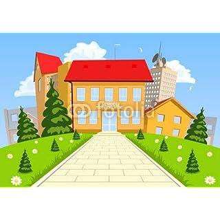 adrium Vector Cartoon Modern School Building (69191751)