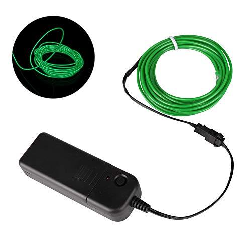 Balai Beweglicher Neonlicht-EL-Draht mit Batteriepack, Neonglühender blitzender Elektrolumineszenzdraht für DIY Kostüme Parteien, Feiertags-Dekoration (10 Farben Wahl, 1m / 3m / ()
