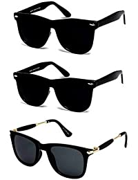 f6ed470df93a Sheomy UV Protected Wayfarer Men s and Women s Sunglasses with 3 Hard Boxes  (3IN1-0075