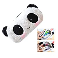 Keyobesa Panda Pencil Case, Practical Cute Style Bag Pouch Soft Plush for Cosmetic Makeup School Supplies for Kids Girls