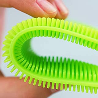 TAOtTAO 1 Stück Silikon Geschirrspülen Schwamm Scrubber Küche Reinigung Antibakterielle Werkzeug (Grün)