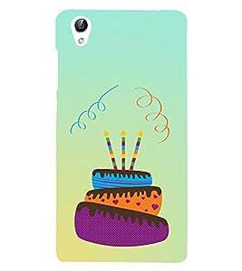 Cake n Candles 3D Hard Polycarbonate Designer Back Case Cover for vivo Y51 :: VivoY51L
