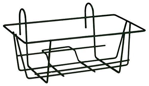 Fioriera 2000 rettangolare fissa in ferro nero da terrazzo balcone 30x60x51 cm ev