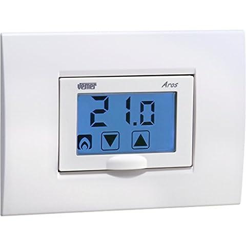 Thermostat programmable / numérique / encastrable au mur / pour chauffage AROS VE458600