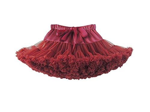 Elfin-lore gonna tutu bambina 8-10 anni principessa tulle sottoveste ragazza per balletto danza costumi di carnevale bordeaux - l