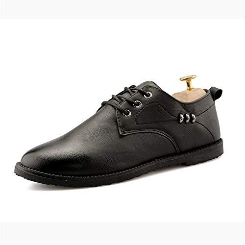 Ofgcfbvxd scarpe basse formali da uomo moda oxford comfort low top scarpe stringate in metallo personalizzate per lavoro business evening party (color : nero, dimensione : 40 eu)