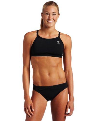 TYR Sport Damen massiv Durafast Diamondback Workout Bikini XL schwarz - Diamondback Bikini