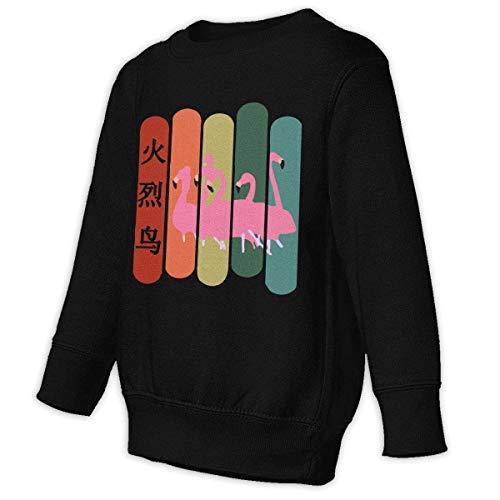 HRTSHRTE Toddler Boys Retro Flamingos Winter Tops Outwear Pullover Sweatshirt (Boy Manschette Toddler Socken)