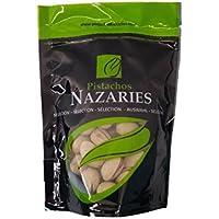 Pistachos Nazaríes - Pistachos Españoles de gran calidad, cuidadosamente seleccionados y tostados, crujientes y en su punto de sal. (Pack de 4 bolsas de 120gr cada una).